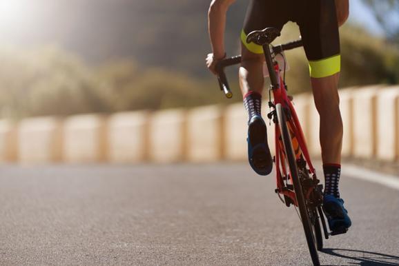 photo d'un cycliste