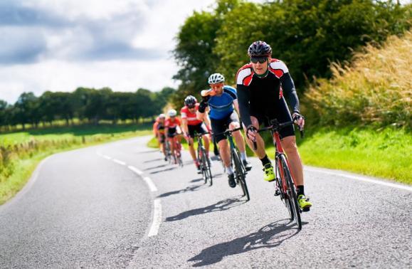cycliste en entrainement